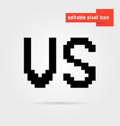 Black editable vs pixel icon vector