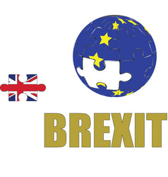 brexit the uk leaving the european union vector image