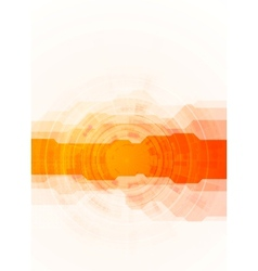 Bright orange technology background vector