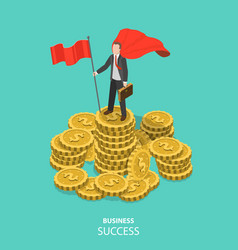 business success flat isometric concept vector image