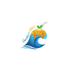caribbean juice vector image