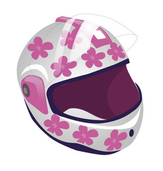 Cartoon of sport helmet for roller vector
