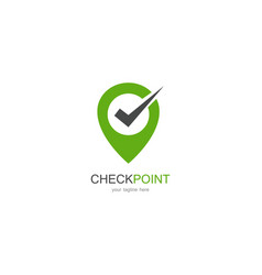 check point logo vector image