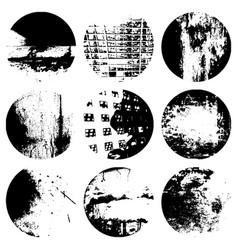 circular textures set vector image