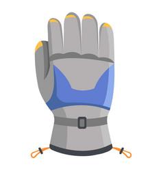 Climbing glove icon flat style vector