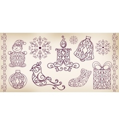 Collection of hand drawing design elements vector