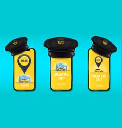 creative of taxi driver cap vector image