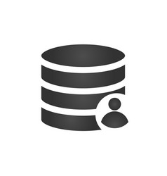 Customer database icon connecting people in one vector