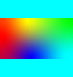 depicting all colors rainbow and the vector image