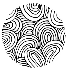 doodle circle 1 vector image