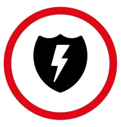 Electric Shield Flat Rounded Icon vector