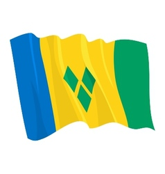 flag of saint vincent and grenadi vector image