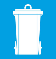 garbage bin icon white vector image