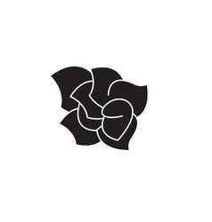 gardenia black concept icon gardenia flat vector image