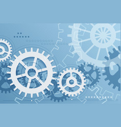 Gears blue background vector