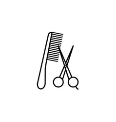 hair cut tool outline icon signs and symbols can vector image