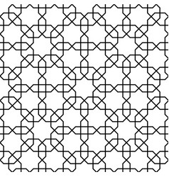 Islamic pattern seamless geometric black vector