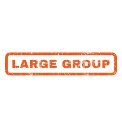 Large Group Rubber Stamp vector