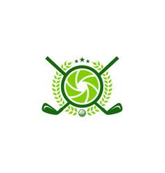 lens golf logo icon design vector image