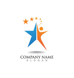 Logo star leadership vector