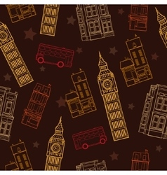 London Symbols Brown Seamless Pattern With vector