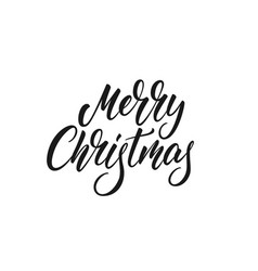 merry christmas text lettering xmas calligraphy vector image