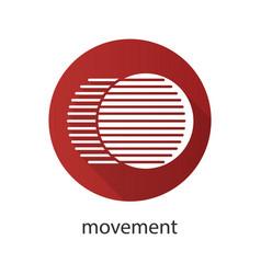Movement flat design long shadow glyph icon vector