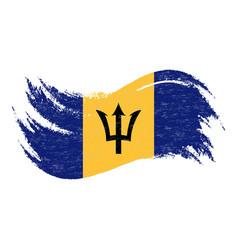 national flag of barbados designed using brush vector image