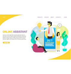 online assistant landing page website vector image
