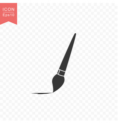 paint brush artist icon simple flat style vector image