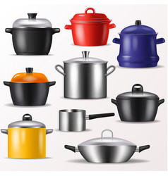 Pan kitchenware or cookware for cooking vector