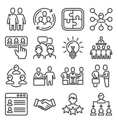 people communication collaboration and vector image