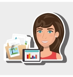 Persons and papers isolated icon design vector