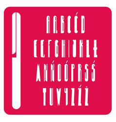 Polish alphabet with decorative capital letters vector