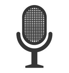 Radio microphone isolated flat icon vector image