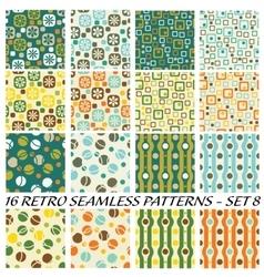 retro patterns vector image