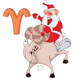 Santa Claus Astrological Sign in Zodiac Aries vector