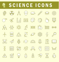science icons in trendy thin line style vector image