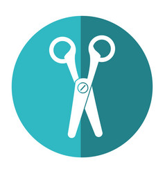 Scissors cut tool element office shadow vector