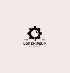 Search engine emblem label logo design vector