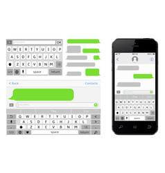 Sms chat composer smartphone chatting sms vector