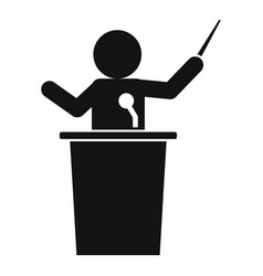 Speaker lecture icon simple style vector