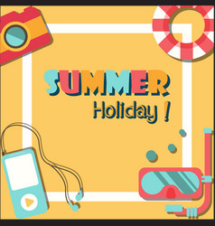 Summer holiday vacation poster flat vector