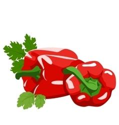 Sweet pepper Healthy lifestile vector