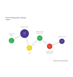 Timeline infographic Minimalistic design vector
