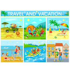 travel and vacation colorful vector image