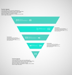 Triangle infographic template consists of five vector
