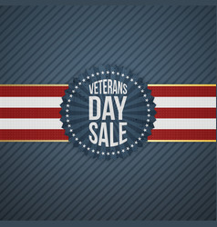 Veterans day sale paper emblem vector