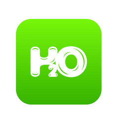 water formula icon green vector image