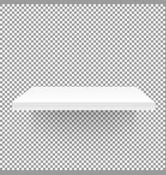 White empty shelf on transparent background mockup vector
